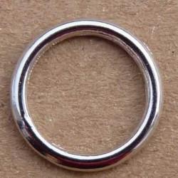 anneau métal chromé diamètre 13 mm vendu à l'unité