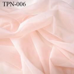 Powernet spécial lingerie extensible dans les deux sens rose pétale haut de gamme largeur 145 cm prix pour 10 cm de longueur