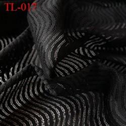 Tissu lingerie couleur noir très haut de gamme largeur 150 cm prix pour 10 centimètres de longueur tissu ajouré