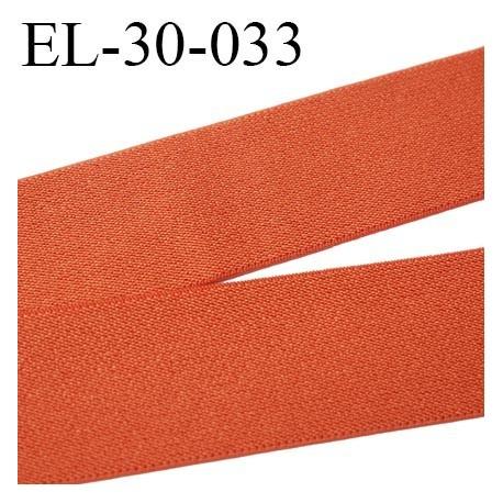 élastique 30 mm aspect velours spécial lingerie, sport très belle qualité  rouille doux certifié oeko tex prix au mètre