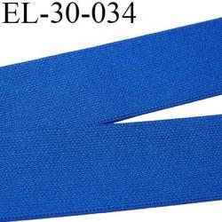 élastique 30 mm aspect velours spécial lingerie, sport très belle qualité  bleu doux certifié oeko tex prix au mètre