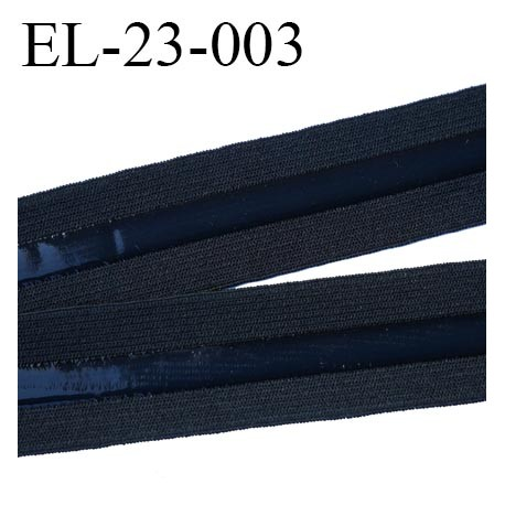 Elastique 23 mm anti-glisse  couleur noir largeur 23 mm largeur de la bande anti glisse 7.5 mm prix au mètre