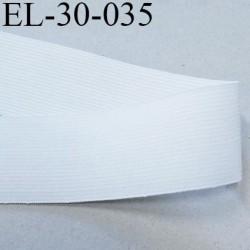 élastique 30 mm épaisseur fine plat très belle qualité superbe couleur blanc largeur 30 mm prix au mètre