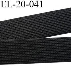 élastique 22 mm plat souple belle élasticité largeur 22 mm couleur noir prix au mètre