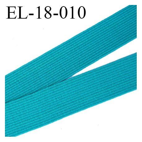 Elastique 18 mm  plat souple couleur vert agréable au touché largeur 18 mm prix au mètre