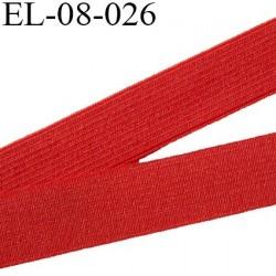 élastique 8 mm plat couleur rouge tirant vers le orange largeur 8 mm  prix  au mètre