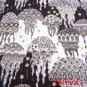 Tissu maillot de bain très haut de gamme motif méduses largeur 150 cm 180 grs au m2 prix pour 10 centimètres
