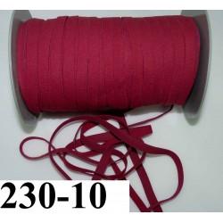 élastique plat largeur 10 mm couleur grenat  vendu au mètre