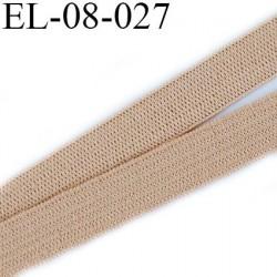 élastique 8 mm plat couleur chair clair largeur 8 mm  prix  au mètre