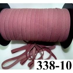 élastique plat largeur 10 mm couleur rose dusty  vendu au mètre