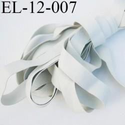 Elastique caoutchouc laminette naturel largeur 12 mm fabriqué en france elles sont très résistantes couleur gris au mètre
