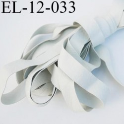 Elastique 12.5 mm caoutchouc laminette naturel largeur 12.5 mm x 0.3 mm fabriqué en france très très résistantes couleur  gris