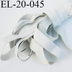 Elastique 19.5 mm caoutchouc laminette naturel largeur 19.5 mmx0.5 mm très résistantes couleur gris made in France prix au mètre