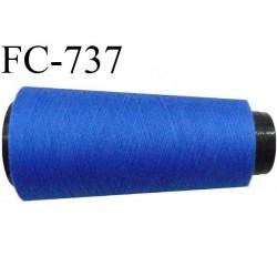 Cone 1000 m fil mousse polyester n°110 couleur bleu roi longueur  1000 mètres bobiné en France