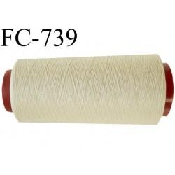 Cone 1000 m fil mousse polyester n°110 couleur beige longueur 1000 mètres bobiné en France