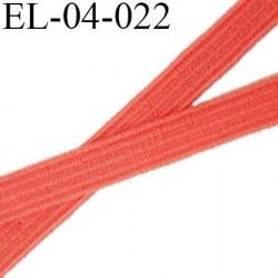 élastique plat  4 mm  couleur corail largeur 4 mm prix au mètre
