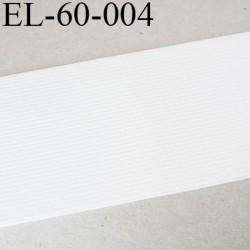 Elastique plat souple 60 mm couleur naturel largeur 60 mm prix au mètre