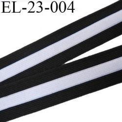 Elastique 23 mm  plat souple couleur noir et blanc largeur 23 mm prix au mètre