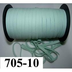 élastique plat largeur 10 mm couleur vert d'eau  vendu au mètre