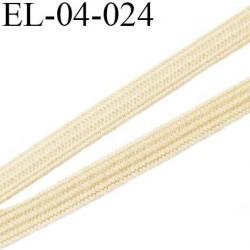 élastique plat  4 mm  couleur crème sable souple largeur 4 mm prix au mètre