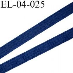 élastique plat  4 mm  couleur bleu marine clair souple largeur 4 mm prix au mètre