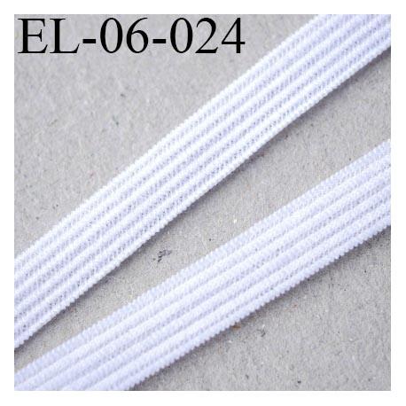 élastique plat fin 6 mm  couleur naturel blanc souple largeur 6 mm prix au mètre