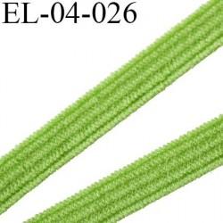 élastique plat  4 mm  couleur vert souple largeur 4 mm prix au mètre