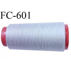 CONE de fil Polyester fil n° 120 couleur gris  longueur de 2000 mètres bobiné en France