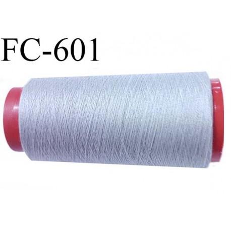 CONE de fil Polyester fil n° 120 couleur gris  longueur de 5000 mètres bobiné en France