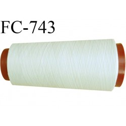 Cone 1000 m fil mousse polyester n°160 couleur écru longueur 1000 mètres bobiné en France