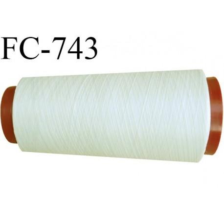 Cone 2000 m fil mousse polyester n°160 couleur écru longueur 2000 mètres bobiné en France