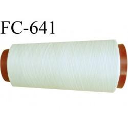 Cone de fil  1000 mètres mousse polyester fil n° 110 couleur crème sable longueur 1000 mètres bobiné en  France