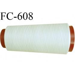 Cone de 2000 m de fil élastique couleur crème sable spécial pour aiguille surjeteuse canette machine fil n° 120