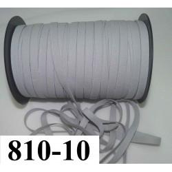 élastique plat largeur 10 mm couleur gris clair vendu au mètre