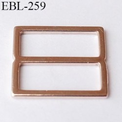 boucle de réglage 15 mm réglette métal couleur cuivre clair brillant  largeur intérieur 15 mm extérieur 17.5 mm prix à l'unité