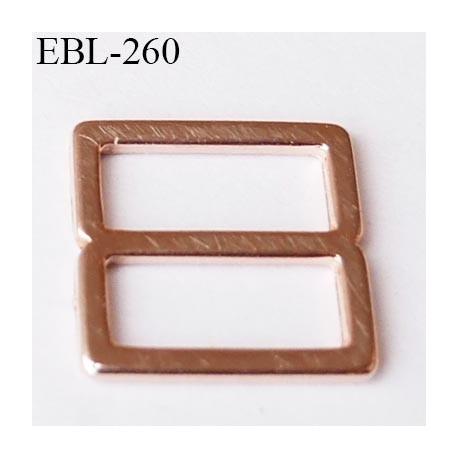 boucle de réglage 10 mm réglette métal couleur cuivre clair brillant  largeur intérieur 10 mm extérieur 12.5 mm prix à l'unité