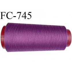 Cone de 2000 m de fil mousse polyamide fil n° 125 couleur passion violette longueur de 2000 mètres bobiné en France
