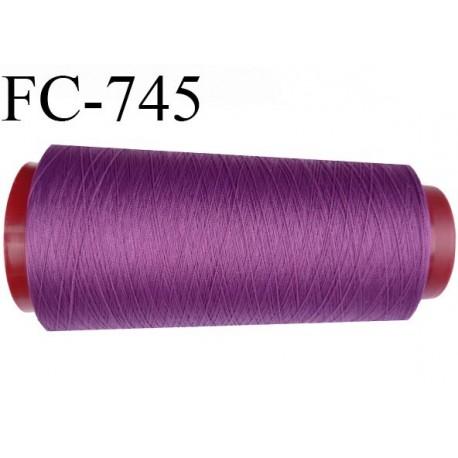 Cone de 5000 m de fil mousse polyamide fil n° 125 couleur passion violette longueur de 5000 mètres bobiné en France