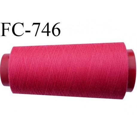 Cone 1000 m fil mousse polyester n°160 couleur fushia longueur 1000 mètres bobiné en France