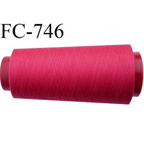 Cone 2000 m fil mousse polyester n°160 couleur fushia longueur 2000 mètres bobiné en France