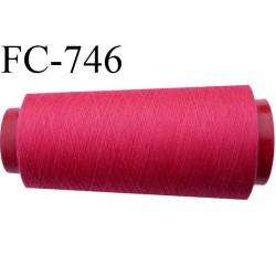 Cone 5000 m fil mousse polyester n°160 couleur fushia longueur 5000 mètres bobiné en France