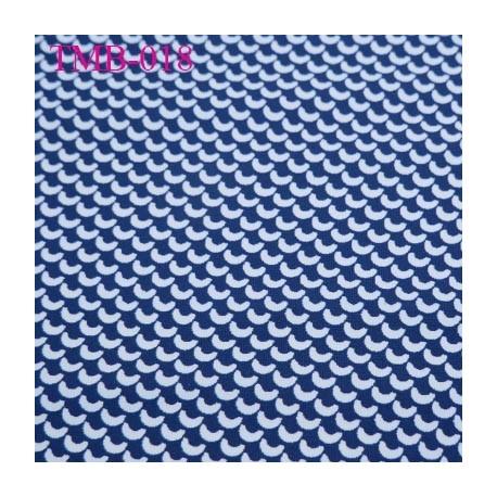 Tissu maillot de bain très haut de gamme couleur bleu et blanc largeur 150 cm 190 grs au m2 prix pour 10 centimètres