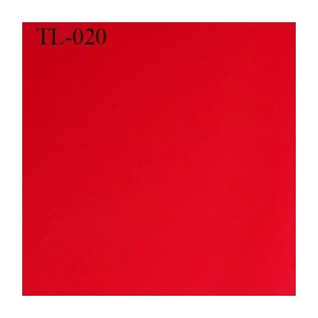 Tissus lycra spécial lingerie fin haut de gamme couleur rouge largeur 150 cm poids au mètre carré 200 grs prix pour 10 cm
