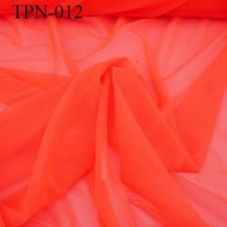 Powernet spécial lingerie extensible  les deux sens couleur orange fluo haut de gamme largeur 180 cm prix pour 10 cm de longueur