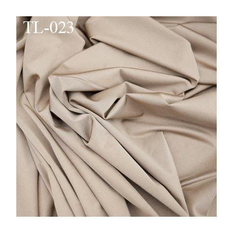 Tissus lycra spécial lingerie fin haut de gamme couleur bronze largeur 150 cm poids au mètre carré 165 grs prix pour 10 cm