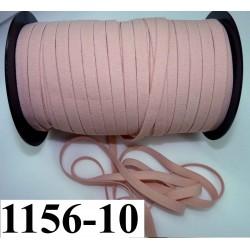 élastique plat largeur 10 mm couleur rose chair vendu au mètre