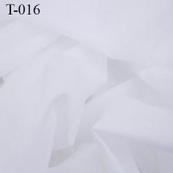 tissus coton couleur blanc largeur 145 centimètre  poids 80 grs au mètre carré prix pour 10 cm