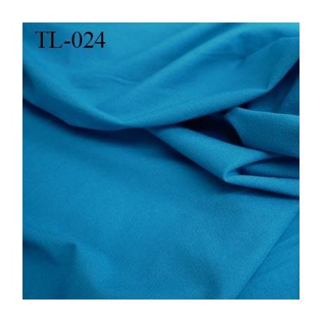 Tissus lycra spécial lingerie très fin haut de gamme couleur bleu largeur 130 cm poids au mètre carré 100 grs prix pour 10 cm