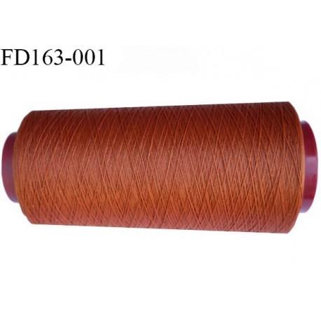 Destockage cone de 2000 m de fil mousse polyester n° 165 couleur rouille longueur du cône 2000 mètres bobiné en France