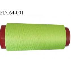 Destockage cone de 2000 m de fil mousse polyester n° 165 couleur vert anis longueur du cône 2000 mètres bobiné en France